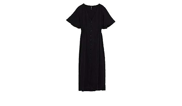 Zara 6929/341 Vestido con Botones para Mujer Negro Negro (XXL ...