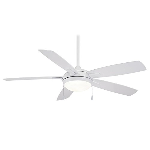 Minka-Aire F534L-WH, LUN-AIRE 54 5 Blade Ceiling Fan with LED Light Kit, White Finish