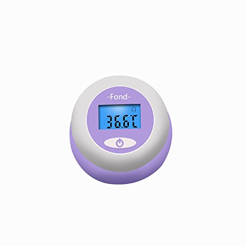 FOND Rechargeable Baby Forehead Thermometer, Measure Forehead Temperature in 1s, C/F Switchable, Blue Backlight, 12 Memory, Suitable for Home All Ages