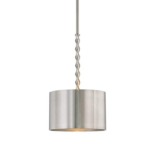 Uttermost 22131 Tori - One Light Drum Pendant, Brushed Nickel Finish