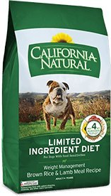 California Natural Weight Management Brown Rice and Lamb Meal Formula Dry Dog Food - 26 lb bag