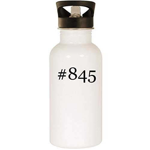 #845 - Stainless Steel Hashtag 20oz Road Ready Water Bottle, White ()