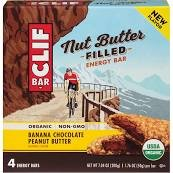 Clif Nut Butter Filled Energy Bar, Banana Chocolate Peanut Butter, 4 Little Bars (Pack of 2) ()