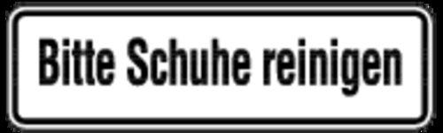 Aufkleber Bitte Schuhe Reinigen 70x240mm Amazon De Baumarkt