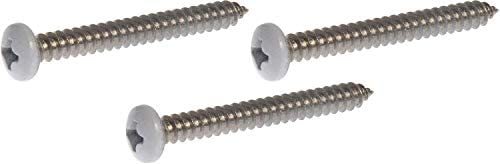 The Hillman Group 823738 Stainless Steel Oval Head Phillips Sheet Metal Screw 100-Pack 14-Inch x 1-Inch