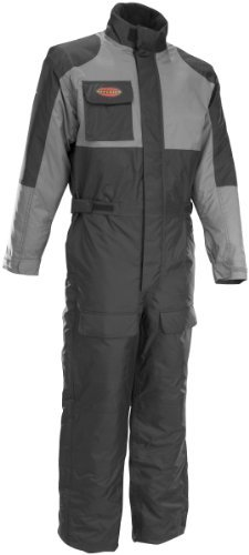 Firstgear Thermosuit Motorcycle Riding Cold Weather Suit (Black/Gunmetal, XX-Large)
