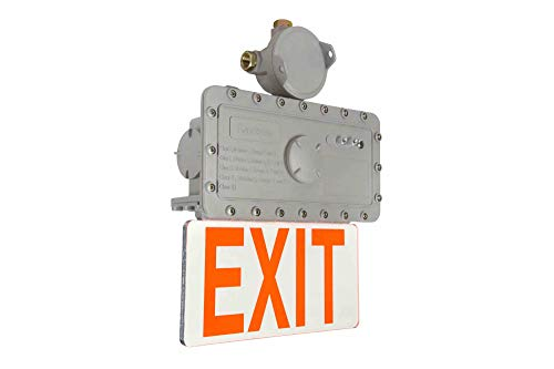 Explosion Proof Exit Signs - Explosion Proof Exit Sign - C1D1 C2D1 C3D1-120-277V AC - 3Hr Emergency Backup - Double Sided