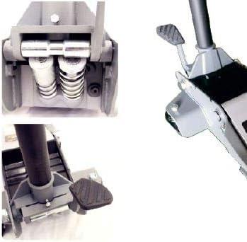 3 T Double pompe et double vitesse de mont/ée avec p/édale. Cric /à roulettes professionnel extra plat jusqu/'/à 3000 kg
