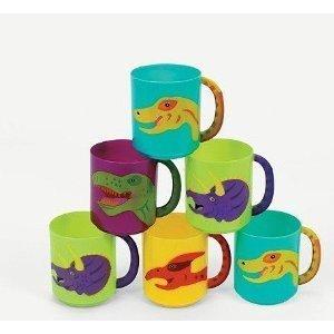 Fun Express Plastic Dinosaur Mugs (1 Dozen) ()