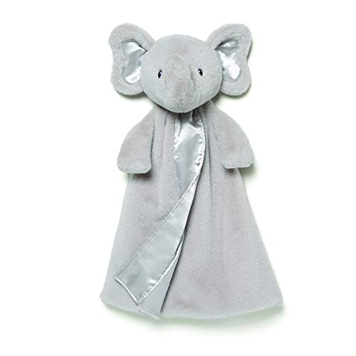 (Gund Baby Bubbles Elephant Huggybuddy Blanket, Gray, 17