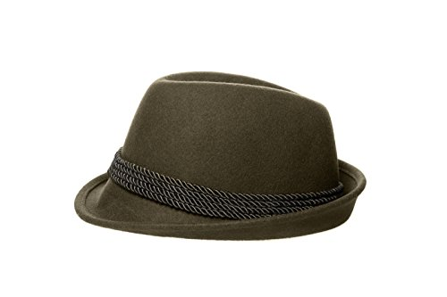 Alpine Holiday Oktoberfest Wool Bavarian Fedora Hat - Green - XXL (7 ... 64accd23d516