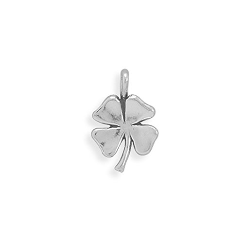 4 Four Sterling Silver Charm - 4 Leaf Clover Shamrock Charm Sterling Silver, Made in the USA