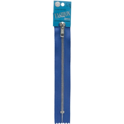 Coats: Thread & Zippers Fashion Metal Aluminum Closed Bottom Zipper, 7-Inch, Yale -