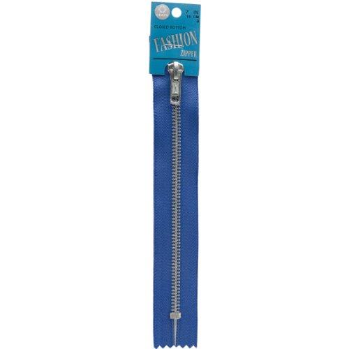(Coats: Thread & Zippers Fashion Metal Aluminum Closed Bottom Zipper, 7-Inch, Yale Blue)