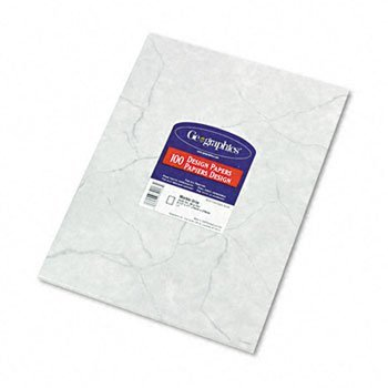 Geographics® Design Paper PAPER,GEOMARBLE,100/PK,GY 4324BL (Pack of10)