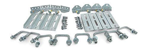 Sturdy Built (8) 8'' Galvanized Swivel Top Bunk Bracket Kit with Hardware for 2x3 Boat Trailer Crossmember by Sturdy Built