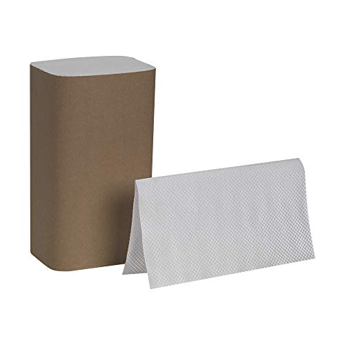 Pacific Blue Basic S-Fold Recycled Paper Towels (Previously Branded Envision) by GP PRO (Georgia-Pacific), White, 20904, 250 Towels Per Pack, 16 Packs Per Case