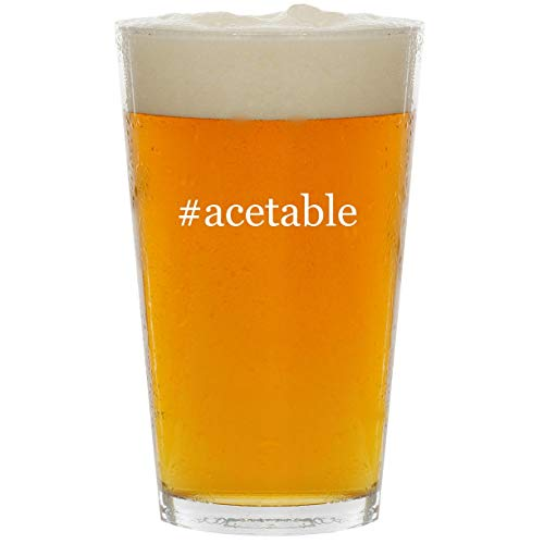 - #acetable - Glass Hashtag 16oz Beer Pint