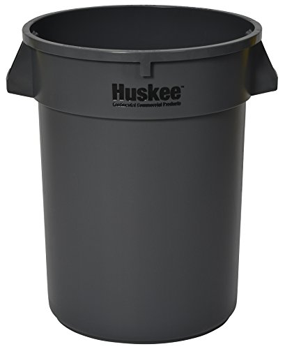 Receptacle Huskee (CMC 3200GY Huskee Grey Round Receptacle, 32 gallon Capacity, 22