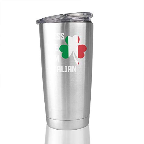 Kiss Me, I'm Italian Stainless Steel Insulated Tumbler 20 Oz Travel Mug Gifts Cup Keep Hot Cold]()