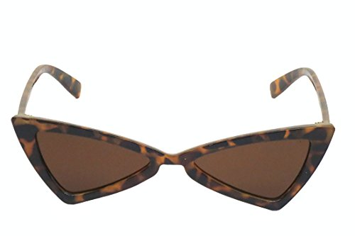 Corona Collection Space Age Cat Eye Fashion Sunglasses (Tortoise, Brown)