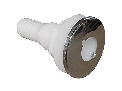"Five Oceans White Nylon/Stainless Steel Thru-Hulls w/stud for hose, 3/4"" FO-2558"