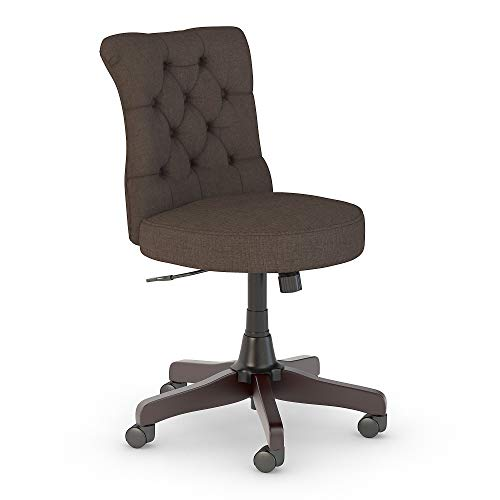 Bush Furniture Key West Mid Back Tufted Office Chair in Brown Fabric
