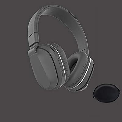 FCHDZ Bluetooth headphones over ear wireless bluetooth headphones over ear with mic high fidelity sound quality foldable ergonomic design suitable for most bluetooth-enabled devices