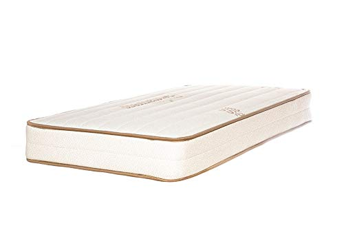 Emily Crib Mattress, GOTS Organic Cotton and Natural Eco-Wool, Two-Sided, Made in USA by My Green Mattress