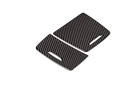 TongSheng Real Carbon Fiber Interior Center Console Storage Box Ashtray Frame Trim for Mercedes Benz CLA GLA A Class W117 C117 W176 X156 2013-2018 Style 2