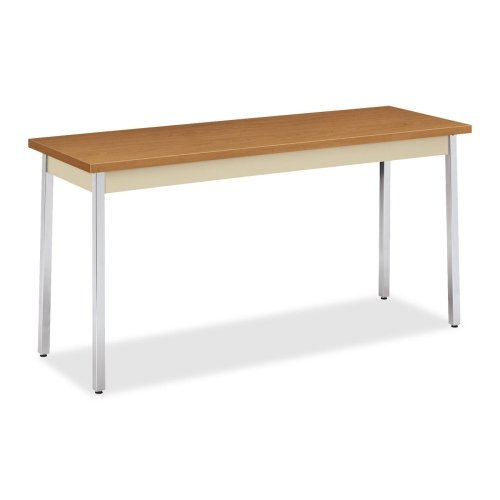 HON UTM2060 Utility Table - Rectangle - 60quot; x 20quot; x 29quot; - Metal, Polyvinyl Chloride (PVC), Chrome, Steel - Putty