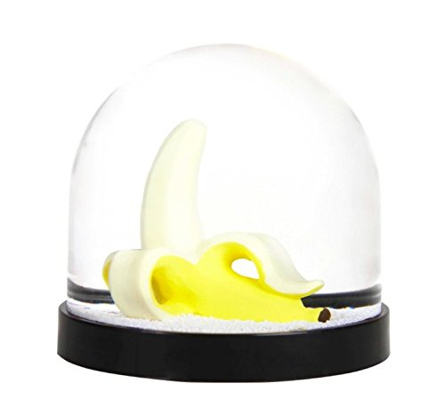 Funny snow globe, snowball, high quality, with banana, 8 x Ø 8.5 cm &Klevering