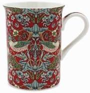 Lot de 4 mugs William Morris Strawberry Thief Leonardo /& Boîte Cadeau Café Thé Tasse