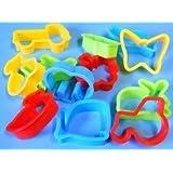Plastic dough cutters, set of 12