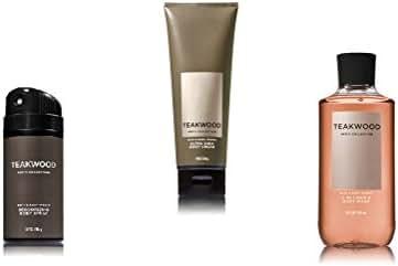 Bath Body Works Teakwood Spray, Cream and Body Wash
