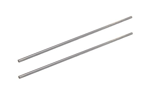 2-Pack - Linear Motion Rod 8 mm x 406mm Shaft , 16 in (406 mm) Length, Chrome Plated, Case Hardened, - Rod Steel Chrome