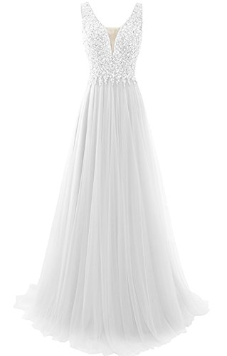 Abito Lungo Applique Vestito A31 Sposa Sposa Da Da Di Donne Convenzionale Promenade Del Strass Tulle Annies vx4w1qTtn