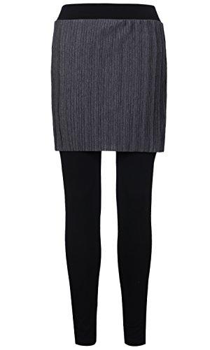 変数等しいジュラシックパーク(イリリリー) ililily 女性 軽量 プリーツの スカート With ストレッチ ウエスト バンド レギンス パンツ