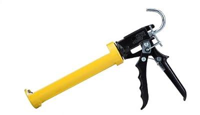 Dripless SI300 Contractor Grade Heavy Duty Caulking Gun, 10 oz Cartridge Capacity, 16:1 Thrust Ratio