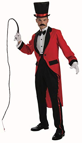 Ringmaster Mens Costume (Men's Ringmaster Costume, Red, One)