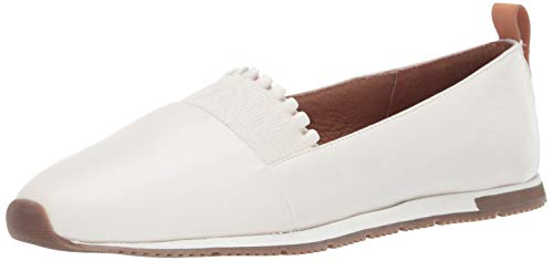 Gentle Souls Women's Luca-Ruffle Slip On Sneaker, White 8.5 M US