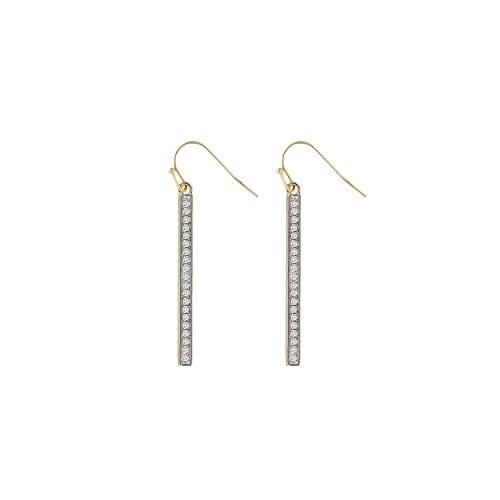 Diamond Bar Earrings Pave set 0.10 tcw Round Brilliant Cut Earrings Real Diamond G-H SI1 14 Karat Bar Diamond Earrings for Women Earrings Jewelry By Ballucci&Toosi - Costume Made Converse