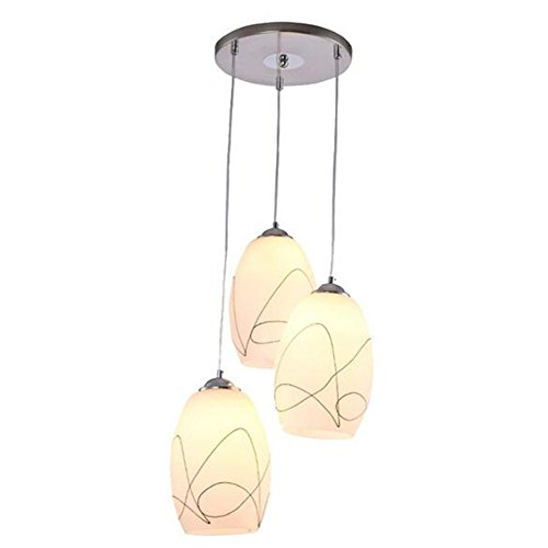 Chandelier Pendant Light Modern Creative Personality Circular Three Headlights Restaurant Living Room Bedroom E27
