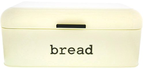 Bread Box for Kitchen Counter - Stainless Steel Bread Bin, D