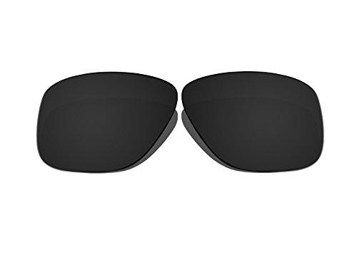 Black Polarized Replacement Lenses for Oakley Breadbox - Breadbox Sunglasses