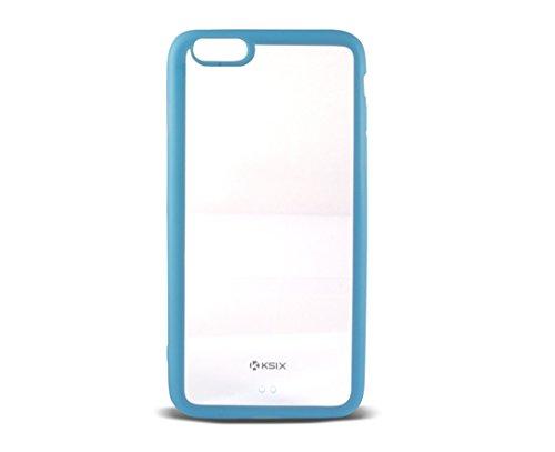 Ksix B0926CF05 Hard Cover Fusion für Apple iphone 6 Plus 14 cm (5,5 Zoll) transparent/blau