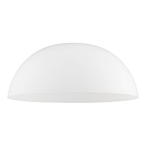 Satin White Glass Shade 13-Inch Wide 1.63-Fitter ()