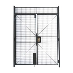 WireCrafters DHD8712 840 Specs Double Hinged Door Woven Wire Partition, Gray by Wirecrafters