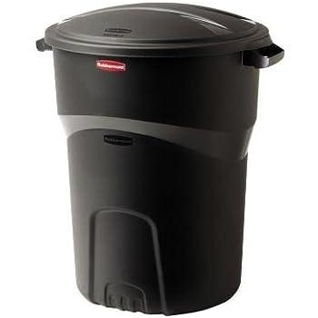 Amazon.com: Rubbermaid Roughneck 32 Gal. Black Round Trash