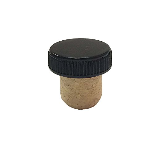 Agglomerated Tasting Cork with a Black Plastic Top (Bag of 50) 19.5 millimeter